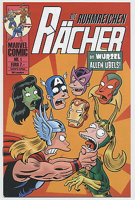 Die Rächer / Simpsons / Bill Morrison # 1 Variant - Comic Action 2007 - Top