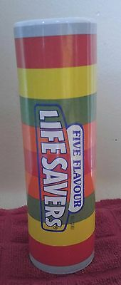 "Vintage Lifesavers Teleflora vase 8"" cool advertising lifesavers"