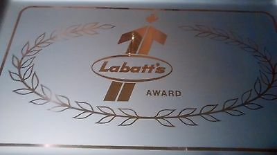 Labatts beer tray 18 1/2 inch metal square