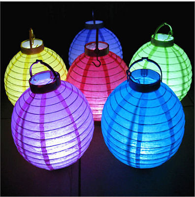 8'' 20cm Chinese LED Light Paper Lantern Hanging Wedding Party Outdoor/Indoor
