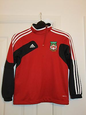Adidas WREXHAM FC Non League Football Training Top 11-12 Years Soccer Jumper