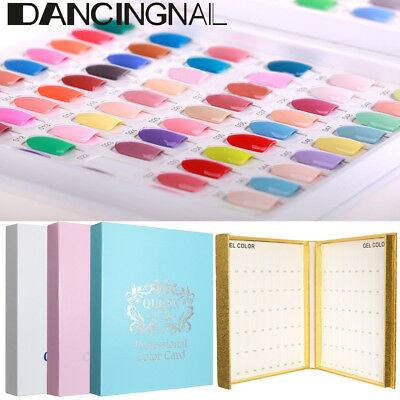 120 Colors Nail Tip Colour Chart Display Book for UV/LED Gel Polish Tips Holder