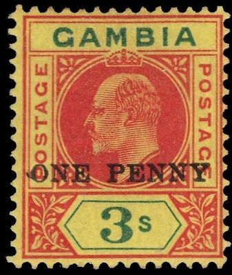 "GAMBIA 66 (SG70) - King Edward VII ""Keyplate Provisional"" (pa85030)"