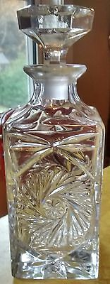 Pinwheel crystal awesome beautiful whiskey decanter