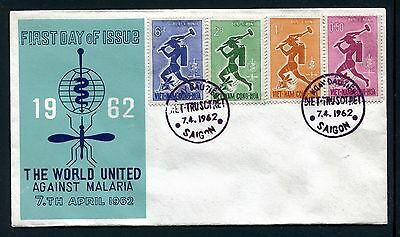 Viet Nam Cover,  FDC, World Fight Against Malaria 1962. x23197