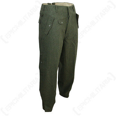 WW2 German Field Grey Jump Trousers - Repro Pants Paratrooper Military Uniform