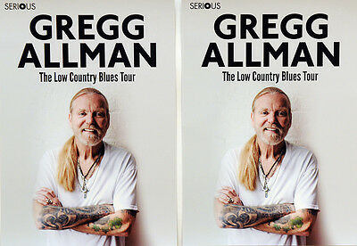 2 X Gregg Allman The Low Country Blues Tour Flyers