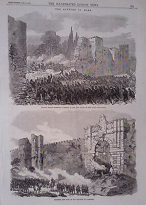 1870 Print The Capture Of Rome