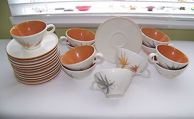 Mid Century BEN SEIBEL Iroquois HARVEST TIME Tea Coffee Cup & Saucer Made in USA