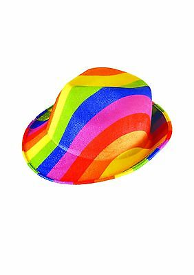 Trilby Rainbow Gay Pride Hat - Fancy Dress Party Accessories