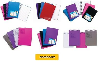 NOTEBOOKS - A4/A5/A6/A7 TwinWire/Plain/Lined/Writing/Colours {Tiger}