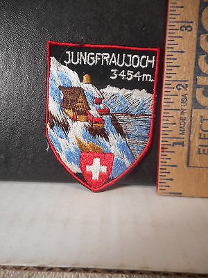 Switzerland Jungfraujoch Travel Souvenir Patch  524TB.