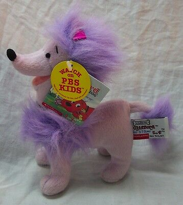 "PBS Clifford the Big Red Dog CLEO PURPLE POODLE DOG 6"" Plush STUFFED ANIMAL Toy"