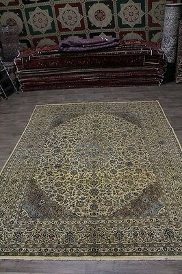 Hand Knotted Antique Gold Washed Mashad Persian Rug Oriental Area Carpet 10X13