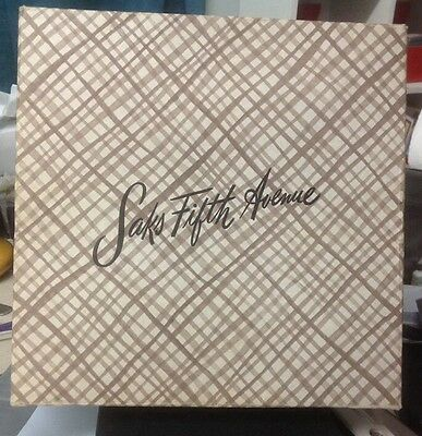 Vintage Saks Fifth Avenue Department Store Square Cardboard Gift Box
