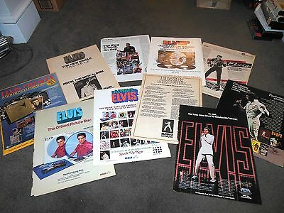 ELVIS PRESLEY 13 Different x 11x14 Promo BILLBOARD Ad Posters Lot RARE
