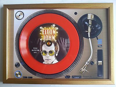 Elton John Tiny Dancer Memorabilia Presentation Disc Frame