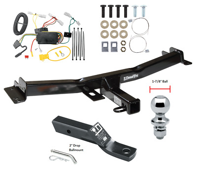 1-1//4-Inch Receiver  for Select Toyota Land Cruiser CURT 118123 Class 1 Trailer Hitch with Ball Mount