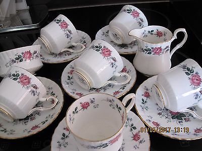 Beautiful Royal Stafford,rose Pattern,bone China 14 Piece Coffee Set,unused