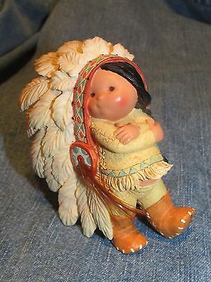 Friends of the Feather Future Native Indian Chief Figurine Enesco 1994 MINT