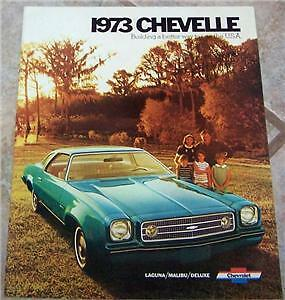 1973 Chevy Chevelle Malibu Laguna Owners Sales Brochure Part Service
