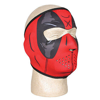 Neoprene Warm/Cold Weather Face Protect Adjust Motorcycle ATV Deadpool Full Mask