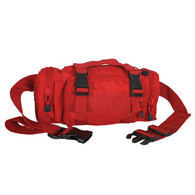 NEW - Military Deployment Tactical Utility MOLLE Waist Pouch Bag - MEDIC RED