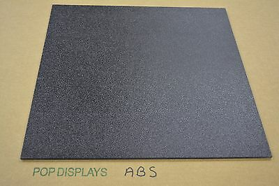 "ABS  PLASTIC SHEET BLACK 1/4"" x 12"" x 12"""