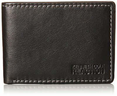 Kenneth Cole REACTION Men's Genuine Leather Front Pocket Billfold Wallet