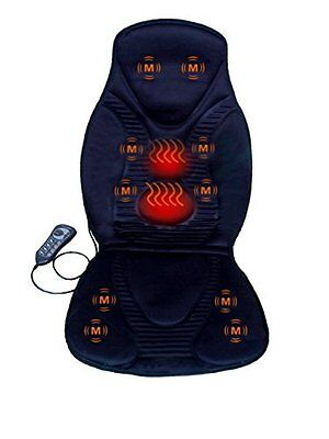 10 Motor Vibration Massage Seat Cushion w/ Heat for Neck Back & Thigh Massager