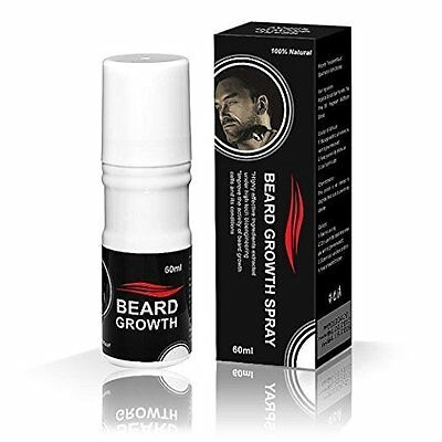 Spray for Beard Growth 100 % Natural Formula Provide Thick and Full Bristle