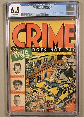 Crime Does Not Pay #23, CGC 6.5, OW, Lev Gleason 1942