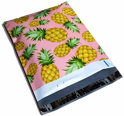 200 10x13 Pineapple Designer Mailers Poly Shipping Envelopes Boutique Bags