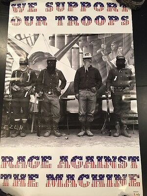 """1996 RAGE AGAINST THE MACHINE We Support Our Troops Evil Empire Poster 24""""x36"""""""