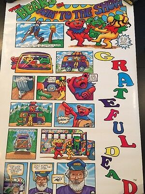 THE GRATEFUL DEAD BEARS GOING TO THE SHOW VINTAGE 1994 34x22