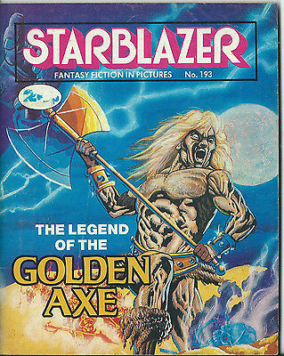 The Legend Of The Golden Axe,starblazer Fantasy Fiction In Pictures,no.193,1987