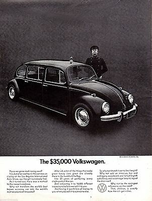 1971 VOLKSWAGEN Limousine w/ Chauffeur VW Bug Beetle Vintage Car Photo AD