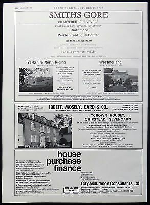 Mouse Hole Cottage Knotting Beds & Crown House Chipstead Sevenoaks Advert 1973
