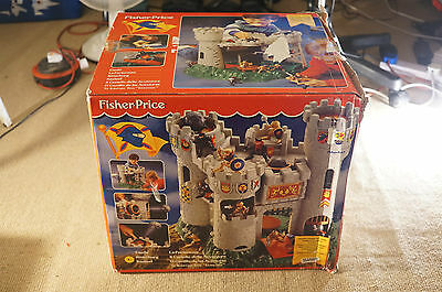 Fisher Price Knights Castle 1994 plus figures cannonball Boxed
