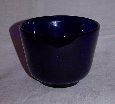 Vintage Bristol Blue Bowl Hand Made Blown Art Glass Centrepiece 5.75""