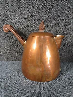 ANTIQUE ARTS CRAFTS COPPER TEAPOT signed J.C.MOORE