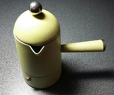 Caffettiera Carmencita Lavazza In Yellow Zanuso vintage stove top coffee maker.