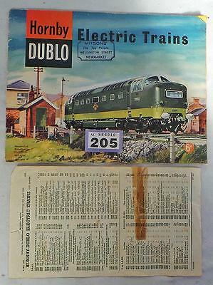LV205 Hornby Dublo catalogue with price list 1962
