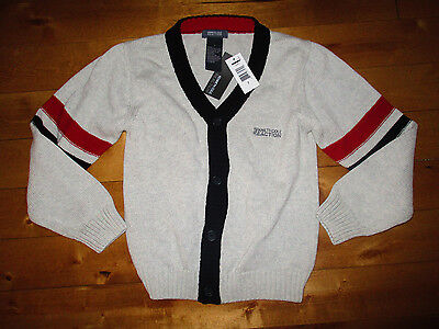 NEW $ KENNETH COLE REACTION Boys 6X 7 Years Cotton Knit CARDIGAN SWEATER