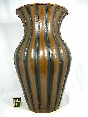 Well shaped Edigio Casagrande Italy copper Kupfer vase  No.236 47 cm