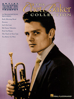 Chet Baker Collection Trumpet Jazz Sheet Music 24 Solo Transcriptions Book NEW