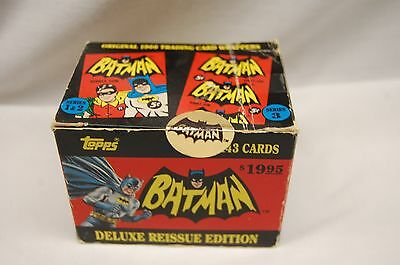 Topps Batman Deluxe Reissue Box Set 143 Trading Cards Complete Set 1989 Unopened