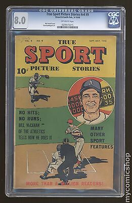 True Sport Picture Stories Vol. 4 (1947) #9 CGC 8.0 0279173015