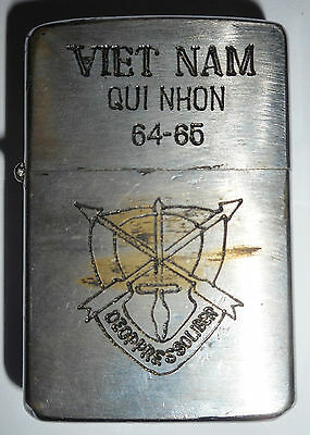 1964 Cia - Original Zippo Lighter - Us Special Ops - Qui Nhon - Vietnam War 8567