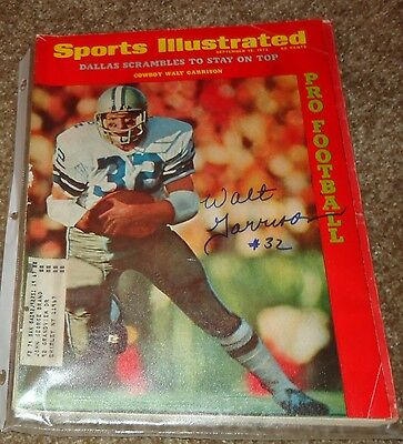 Walt Garrison Sports Illustrated 1972 Dallas Cowboys Autograph Football Signed